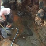 大浴場清掃